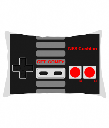 "20"" x 12"" Lumbar Cushion Nintendo NES Controller Inspired Design"